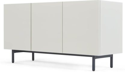 An Image of MADE Essentials Mino Sideboard, Oak and Ivory White