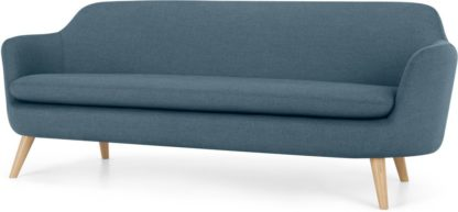 An Image of Nya 3 Seater Sofa, Duke Blue Weave