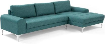 An Image of Vittorio Right Hand Facing Chaise End Corner Sofa, Teal