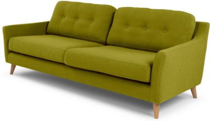 An Image of Rufus 3 Seater Sofa, Leaf Green