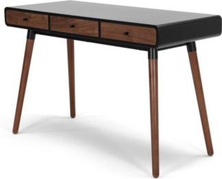An Image of Edelweiss Desk, Walnut and Black