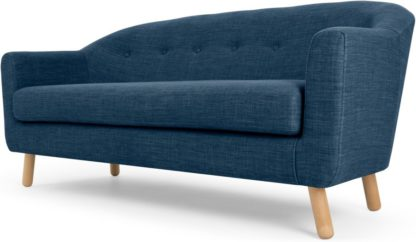 An Image of Lottie 3 Seater Sofa, Harbour Blue