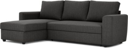An Image of Aidian Corner Storage Sofa Bed, Stormy Grey