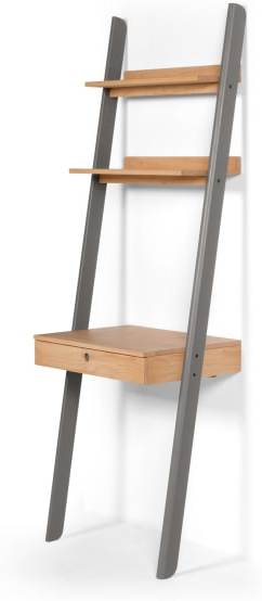 An Image of Kleur Leaning Desk, Pine and Grey