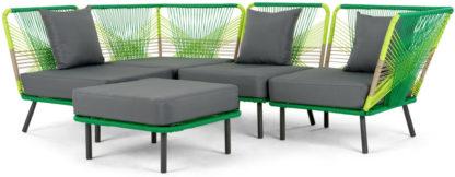 An Image of Copa Garden Corner Sofa, Citrus Green
