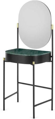 An Image of Masa Dressing Table, Marble & Brass