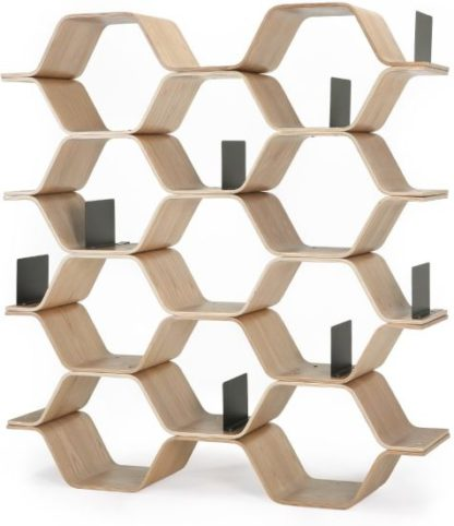 An Image of Polygon Shelving Unit, Ash