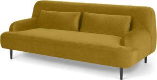 An Image of Giselle 2 Seater Sofa, Vintage Gold Velvet