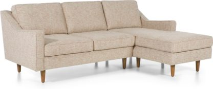 An Image of Dallas Right Hand Facing Chaise End Corner Sofa, Amber Basketweave