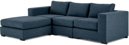 An Image of Mortimer 4 Seater Modular Corner Sofa, Harbour Blue