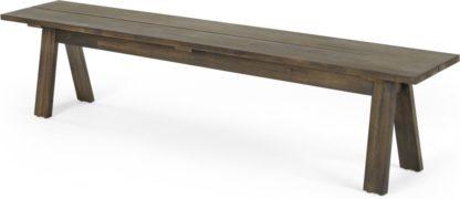 An Image of Telmo Garden Large Dining Bench, Acacia