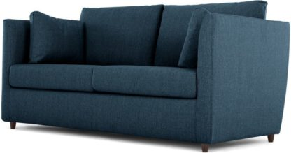 An Image of Milner Sofa Bed with Memory Foam Mattress, Arctic Blue