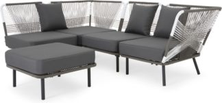 An Image of Copa Garden corner sofa, tonal grey