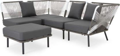 An Image of Copa Garden corner sofa, tonal grey