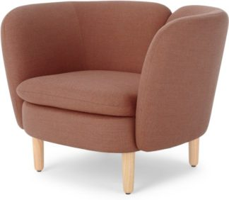 An Image of Elio Accent Armchair, Rust Pink Weave