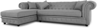 An Image of Branagh Left Hand Facing Chaise End Corner Sofa, Pearl Grey