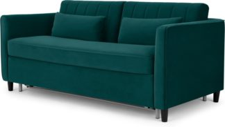 An Image of Barrow Sofa Bed, Seafoam Blue Velvet