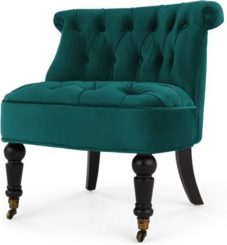 An Image of Bouji Accent Chair, Seafoam Blue Velvet