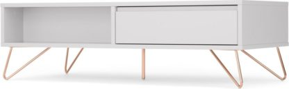 An Image of Elona Coffee Table, Light Grey and Copper