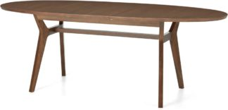 An Image of Jenson 6-8 Seat Oval Extending Dining Table, Dark Stain Oak