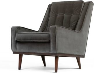 An Image of Scott Armchair, Concrete Cotton Velvet