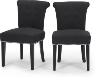 An Image of Set of 2 Celia Dining Chair, Midnight Black
