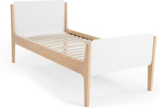 An Image of Linus Single Bed, Pine and White