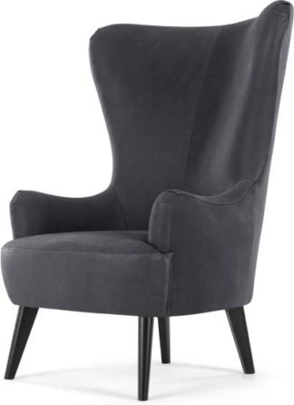 An Image of Bodil Accent Armchair, Grey Leather