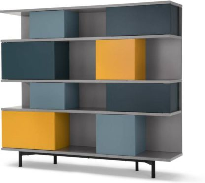 An Image of Fowler Large Shelving Unit, Multicolour