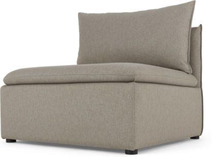 An Image of Victor Modular Sofa Single Seat, Portland Grey