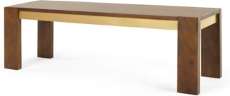 An Image of Anderson Bench , Mango Wood and Brass