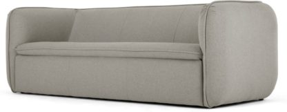 An Image of Berko 3 Seater Sofa, Manhattan Grey