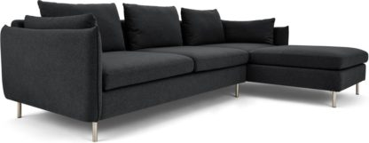 An Image of Vento 3 Seater Right Hand Facing Chaise End Corner Sofa, Sterling Grey