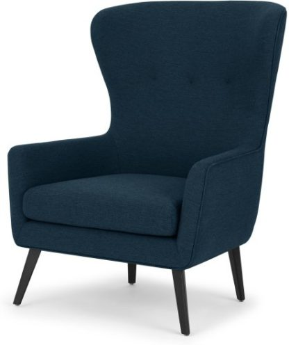 An Image of Shelby Accent Chair, Dark Navy Weave