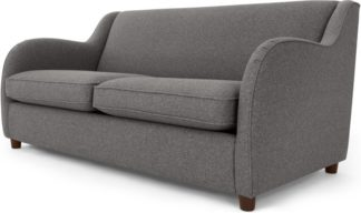 An Image of Helena Sofabed, Textured Weave Smoke Grey