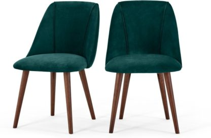 An Image of Set of 2 Lule Dining Chairs, Seafoam Blue Velvet