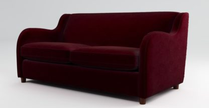 An Image of Custom MADE Helena Sofabed with Memory Foam Mattress, Plush Burgundy Velvet