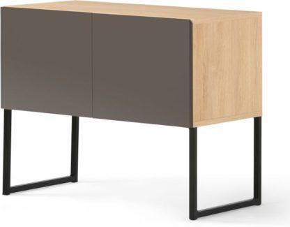An Image of MADE Essentials Hopkins Sideboard, Oak Effect & Grey