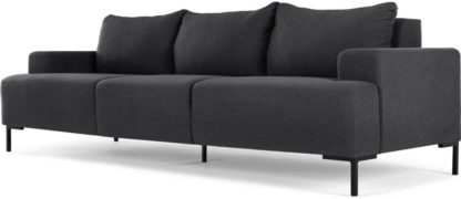 An Image of MADE Essentials Oskar 3 Seater Sofa, Sterling Grey