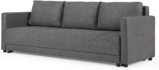 An Image of MADE Essentials Brock Platform Sofabed, Pewter Grey