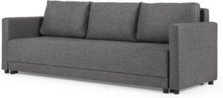 An Image of MADE Essentials Brock Platform Sofabed, Pewter Grey