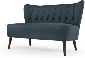 An Image of Charley 2 Seater Sofa, Aegean Blue