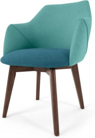An Image of Lule Office Chair, Mineral Blue and Emerald Green