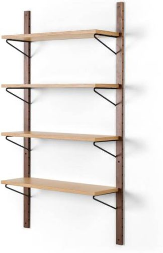 An Image of Jory Modular Shelves, Walnut and Oak