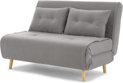 An Image of Haru Small Sofa bed, Marshmallow Grey