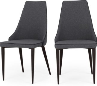 An Image of Set of 2 Julietta Dining Chairs, Marl Grey