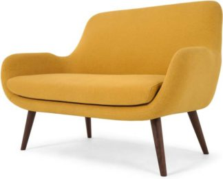 An Image of Moby 2 Seater Sofa, Yolk Yellow