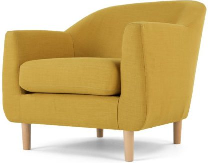 An Image of Tubby Armchair, Retro Yellow