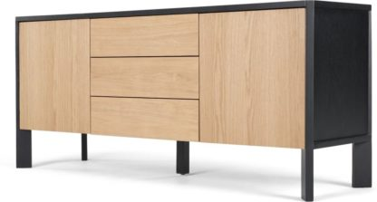 An Image of Brook Sideboard, Oak and Black