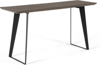 An Image of Boone Console Table, Grey Concrete Resin Top